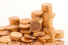 Russische muntstukkenclose-up Stock Afbeelding