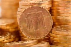 Russische muntstukkenclose-up Royalty-vrije Stock Afbeelding