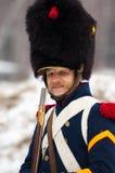 Russische musketier met geweer Stock Afbeeldingen
