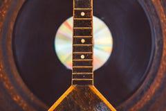Russische muzikale instrumentenbalalaika stock fotografie