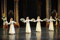 Russische nationaal de kostuud-prins van bar het mitzvah-derde handeling-ballet Zwaanmeer Stock Foto's
