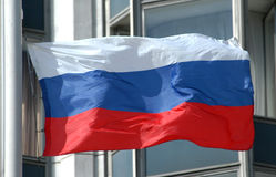 Russische Nationale Vlag Royalty-vrije Stock Foto