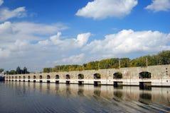 Russische Natur Das die Wolga-Panorama an einem sonnigen Tag Lizenzfreie Stockfotos