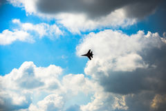 Russische nieuwste straalvechter su-30 Stock Afbeelding