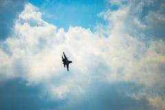 Russische nieuwste straalvechter su-30 royalty-vrije stock afbeelding