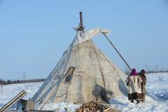Russische Noordpool Inheems Stock Afbeelding