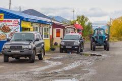 Russische off-road auto's en tractor, Sokoch, Rusland stock foto's