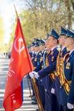 Russische Offiziere an der Parade anlässlich der Victory Day-Feiern am 9. Mai Lizenzfreies Stockfoto
