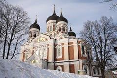 Russische Orthodox van de Kathedraal van Nevsky van Alexandr Stock Foto's