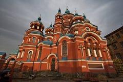 Russische Orthodoxe Kathedraal Stock Fotografie