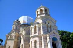 Russische Orthodoxe Kathedraalkerk royalty-vrije stock afbeelding