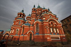 Russische orthodoxe Kathedrale Stockfotografie