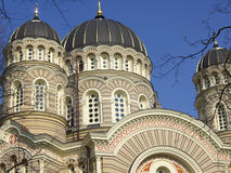 Russische orthodoxe Kathedrale   Stockbild