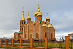 Russische Orthodoxe Kerk in Aktobe Royalty-vrije Stock Fotografie