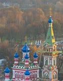 Russische orthodoxe kerk in de stad van Riga, Letland Royalty-vrije Stock Afbeeldingen
