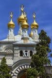 Russische of orthodoxe kerk, Genève, Zwitserland Stock Foto's