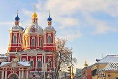 Russische orthodoxe kerk, Moskou Stock Foto's