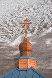 Russische Orthodoxe Kerkkoning Cove Alaska stock foto's