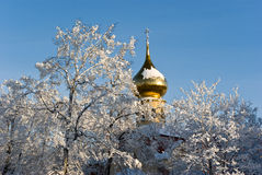 Russische orthodoxe Kirche Stockbild