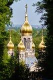 Russische orthodoxe Kirche in Wiesbaden lizenzfreie stockbilder