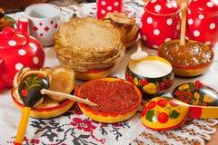 Russische pannekoek Stock Afbeelding