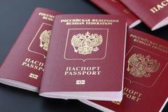 Russische paspoorten Royalty-vrije Stock Foto's
