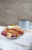 Russische Pfannkuchen Stockfotografie