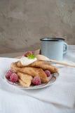 Russische Pfannkuchen Stockfoto