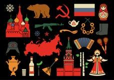Russische pictogrammen Stock Afbeeldingen