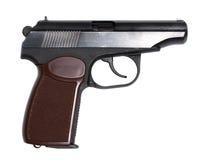 Russische Pistole auf Weiß stockfoto