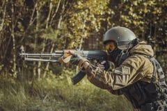Russische politie speciale kracht royalty-vrije stock foto