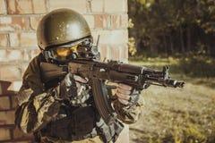 Russische Polizeibesondere kraft Stockfotos