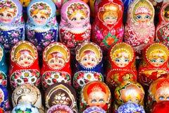 Russische poppen Stock Foto's