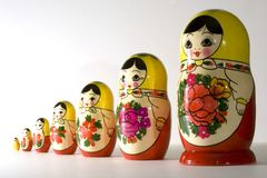 Russische poppen Royalty-vrije Stock Foto