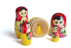 Russische poppen - Stock Afbeeldingen