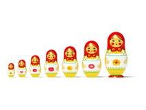 Russische poppen Royalty-vrije Stock Foto's