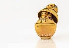 Russische poppenbabushka Stock Afbeelding