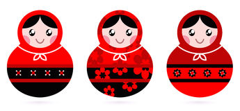 Russische poppenreeks Stock Afbeelding