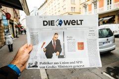 Russische Präsidentschaftswahl Die Welts ab 2018 mit dem winne Lizenzfreie Stockfotografie