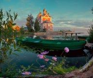Russische provinciale stad Pereslavl Zalessky Stock Foto's