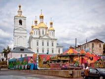 Russische provinzielle Stadt Stockfotos