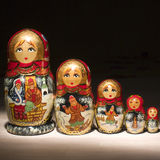 Russische Puppen stockfotos