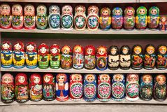 Russische Puppen - matrioska Stockfoto