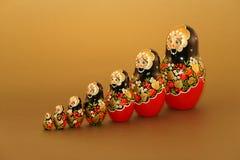 Russische Puppen - Matruskas Stockfoto