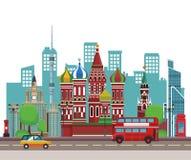 Russische relevante gebouwen royalty-vrije illustratie