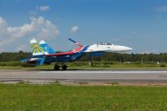 Russische Ridders aerobatic groep Stock Foto's