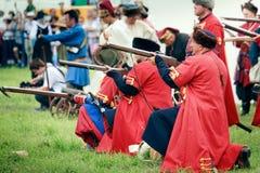 Russische Riflemen Royalty-vrije Stock Fotografie