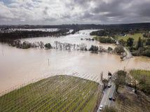 Russian River Flooding. Westside Road, Healdsburg, CA