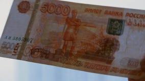 Russische roebel stock videobeelden