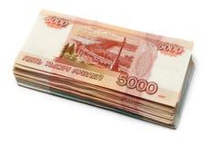 Russische roebels Royalty-vrije Stock Fotografie